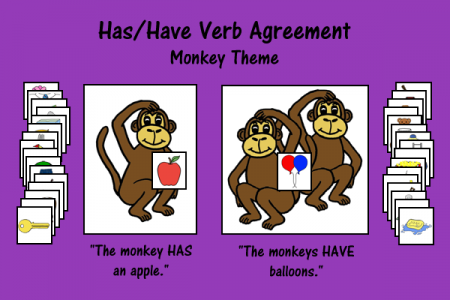 Has/Have Verb Agreement - Monkey Theme