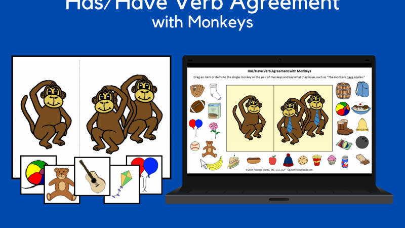 Has/Have Verb Agreement With Monkeys