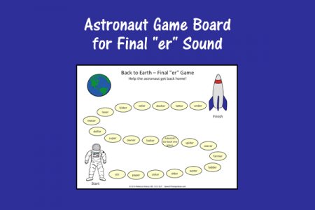 "Astronaut Game Board for Final ""er"" Sound"