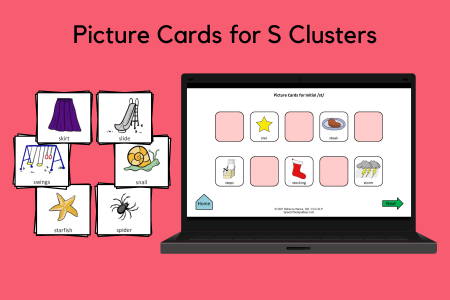 Picture Cards for S Clusters