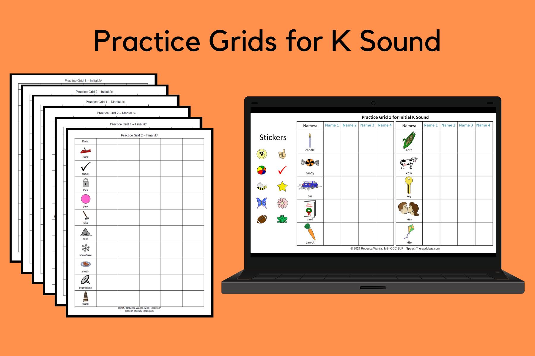 Practice Grids for K Sound