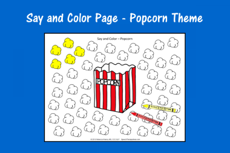 Say and Color - Popcorn Theme