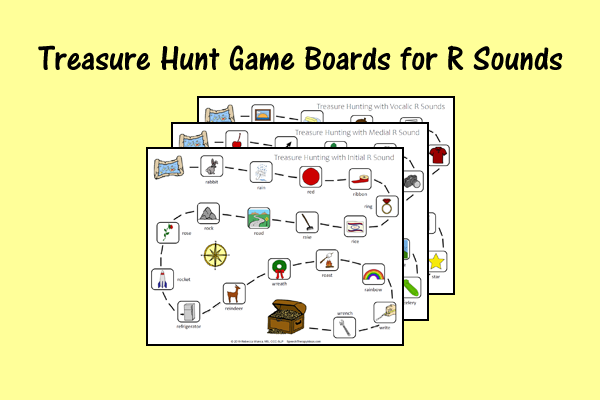 Treasure Hunt Game Boards for R Sounds