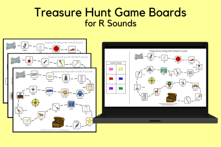 Treasure Hunting Game Boards for R Sounds