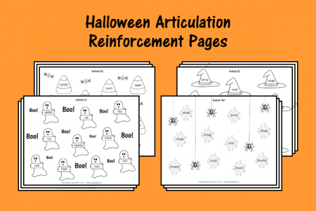 Halloween Articulation Reinforcement Pages