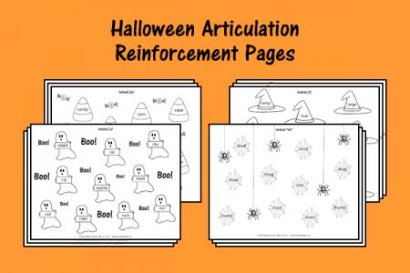 Halloween Articulation Reinforcement Pages