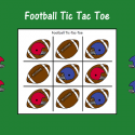 Football Tic Tac Toe Reinforcement Activity