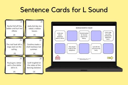 Sentence Cards for L Sound