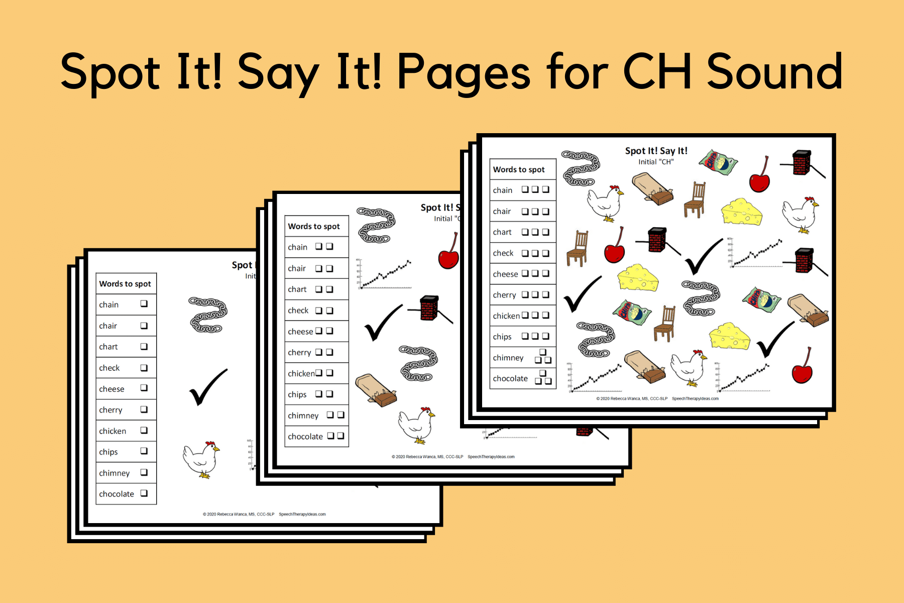 Spot It! Say It! Pages for CH Sound