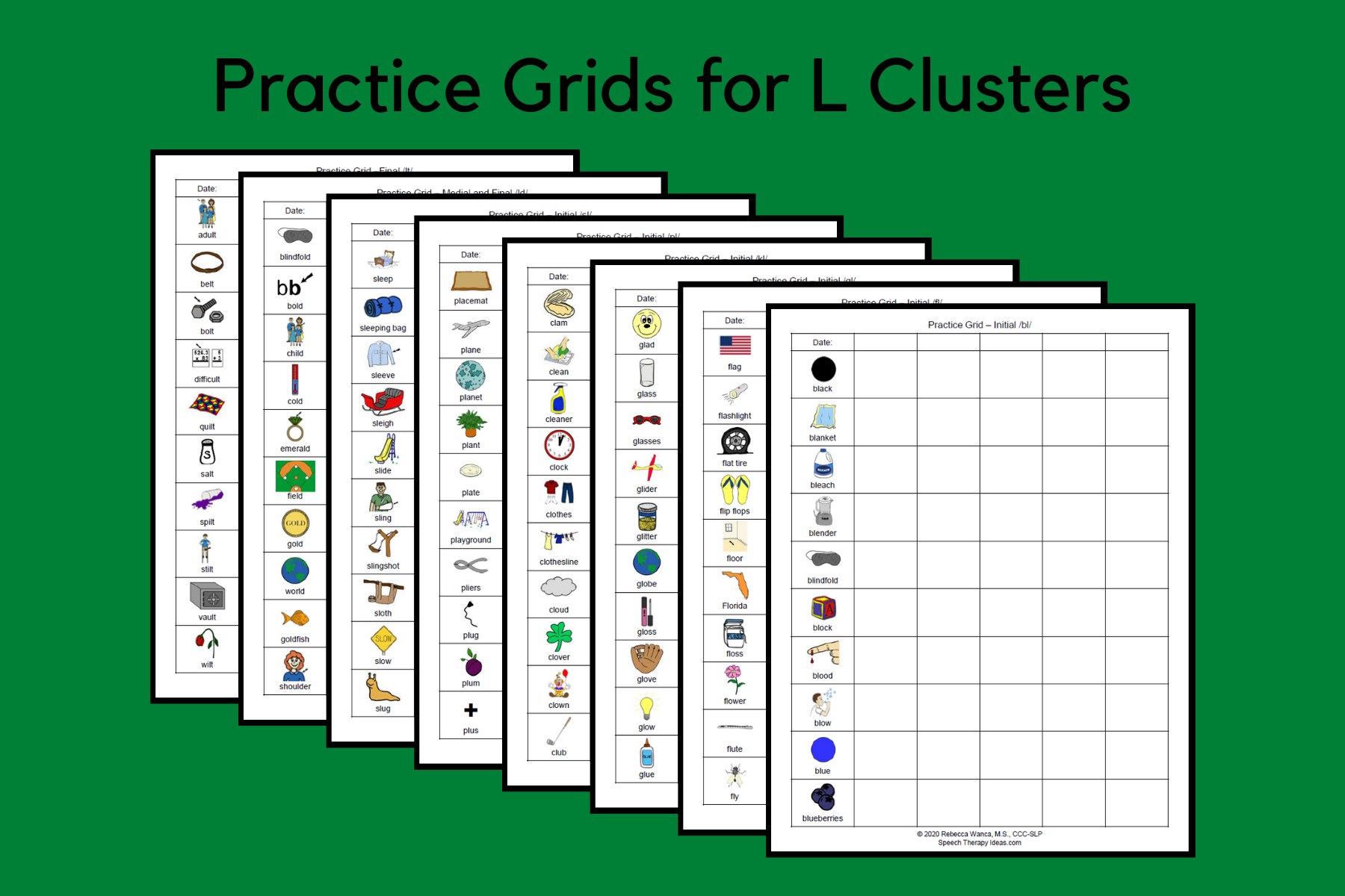 Practice Grids for L Clusters