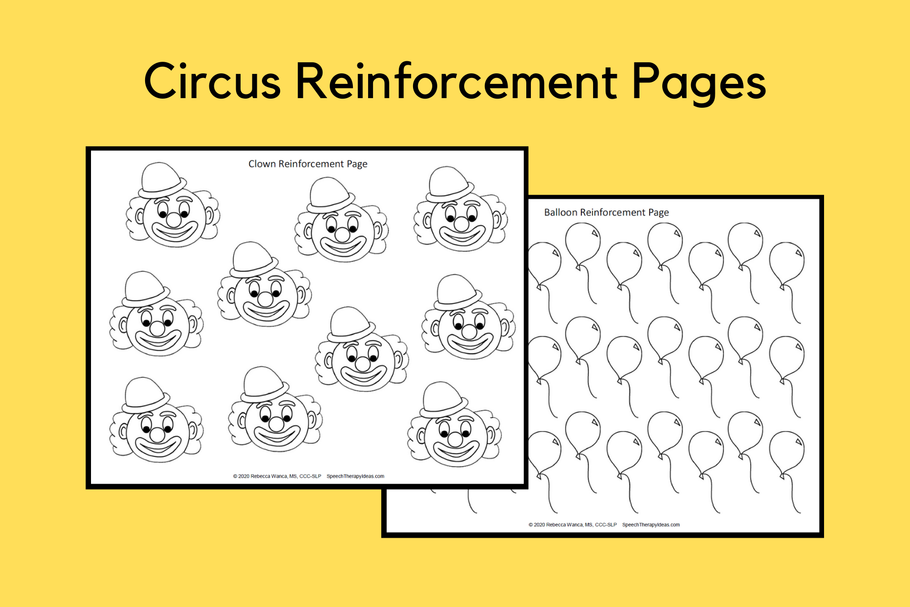 Circus Reinforcement Pages – FREE Printable
