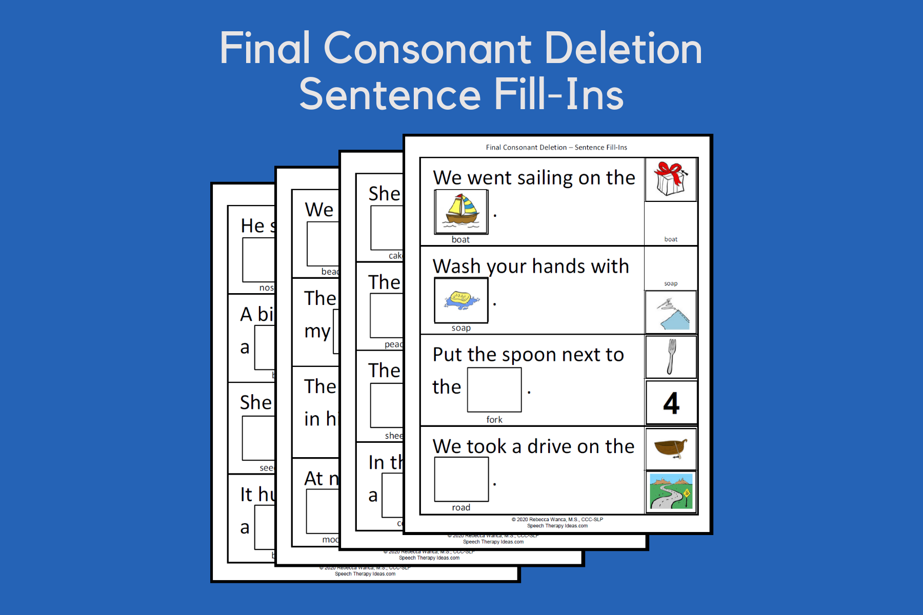 Final Consonant Deletion Sentence Fill-Ins
