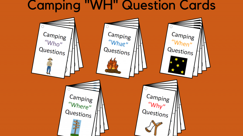 Camping WH Question Cards