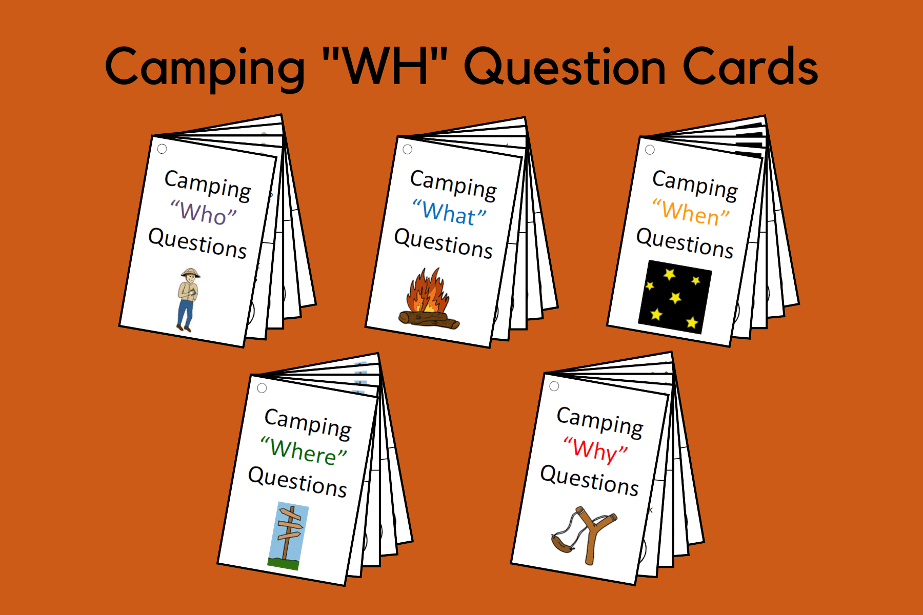 "Camping ""WH"" Questions With Answer Choices"