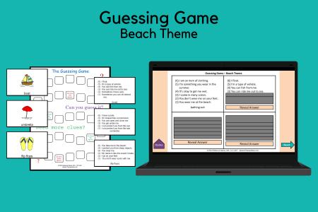 Guessing Game - Beach Theme