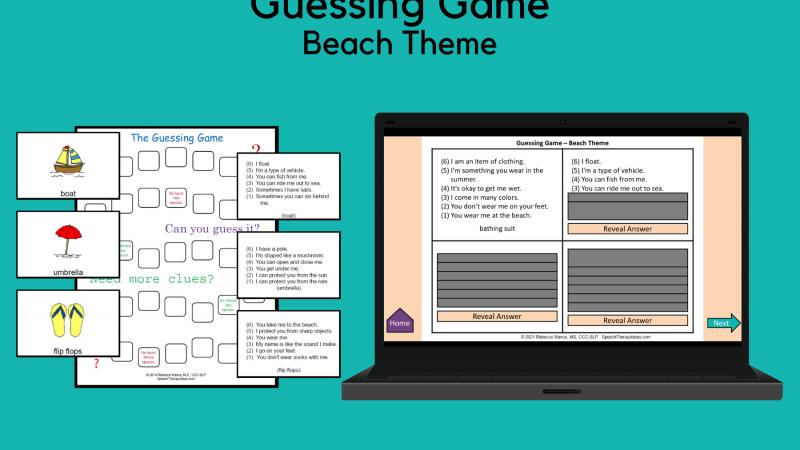 Guessing Game – Beach Theme