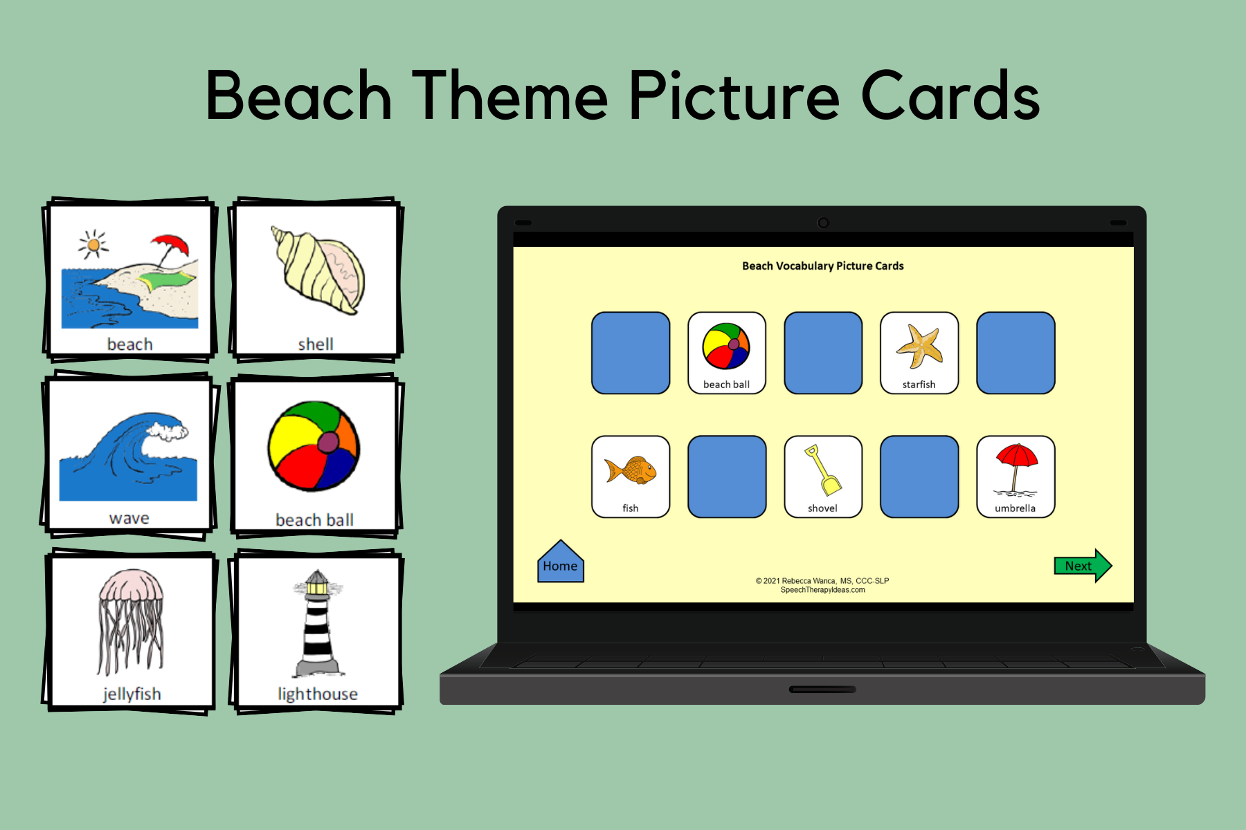 Beach Theme Picture Cards