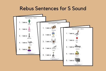Rebus Sentences for S Sound