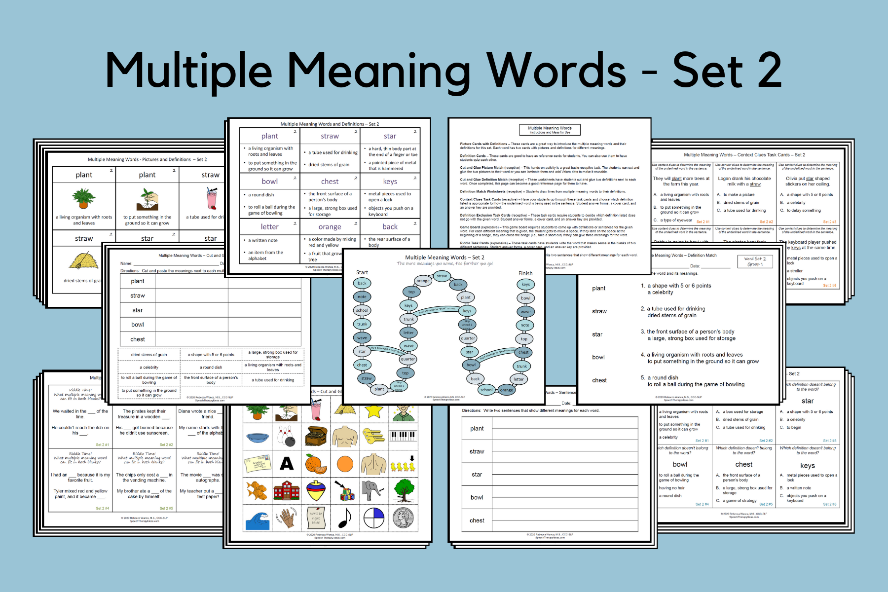 Multiple Meaning Words – Set 2