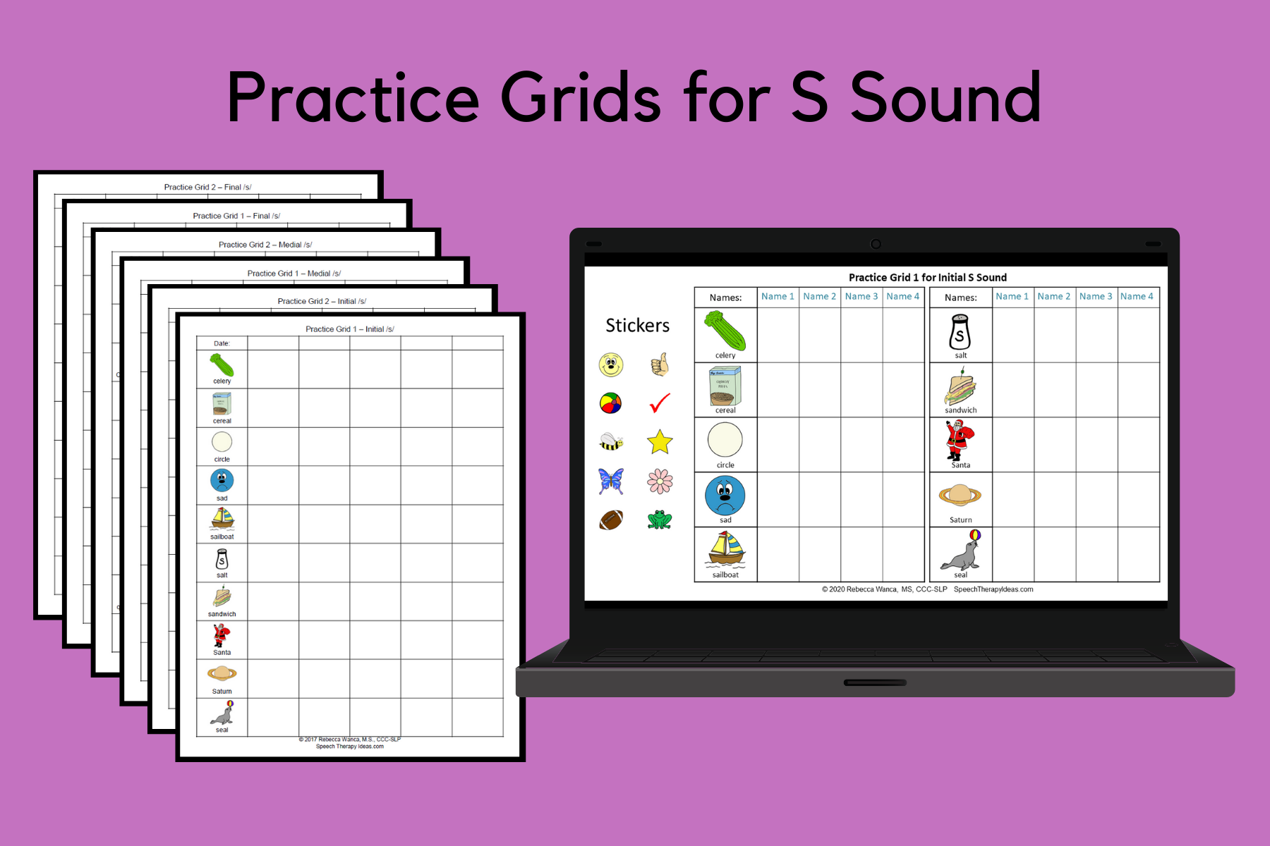 Practice Grids for S Sound