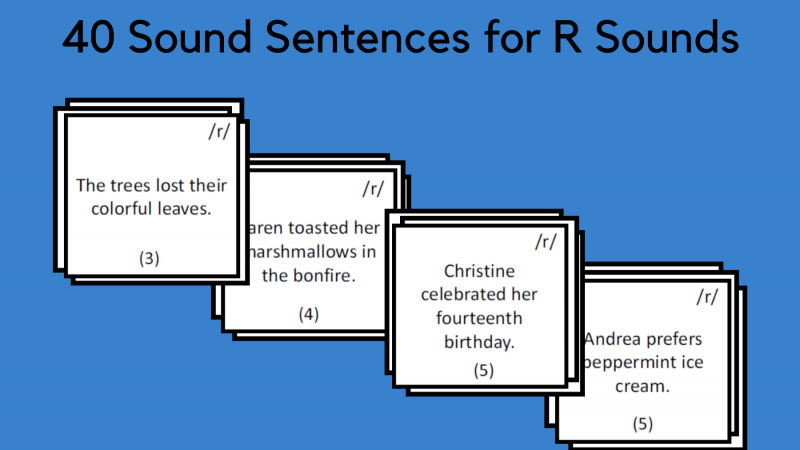 Sound Sentences For R Sounds