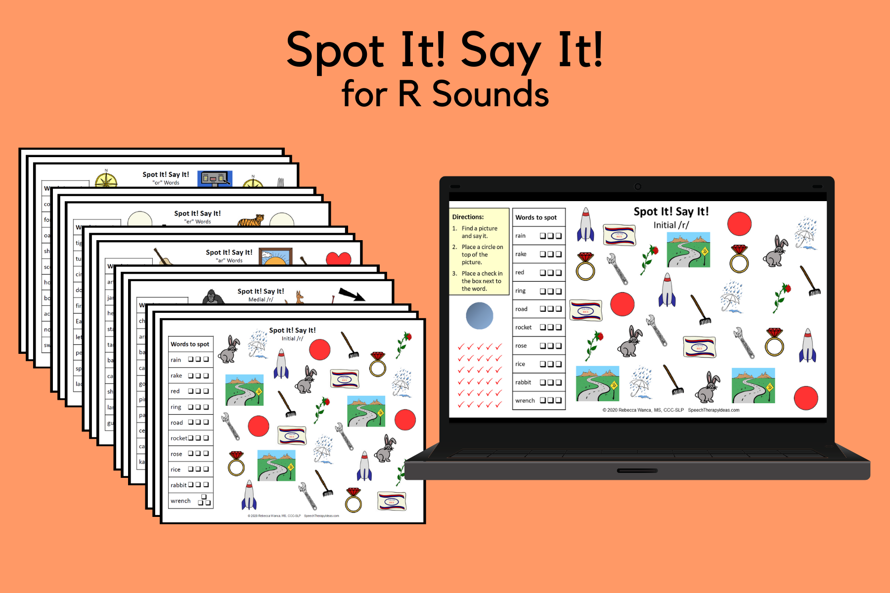 Spot It! Say It! Pages For R Sounds