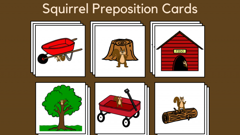 Squirrel Preposition Cards
