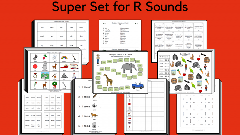 Super Set For R Sounds