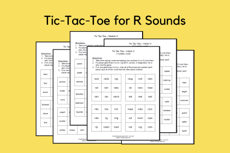 Tic Tac Toe for R Sounds