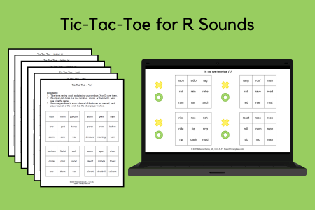 Tic-Tac-Toe for R Sounds