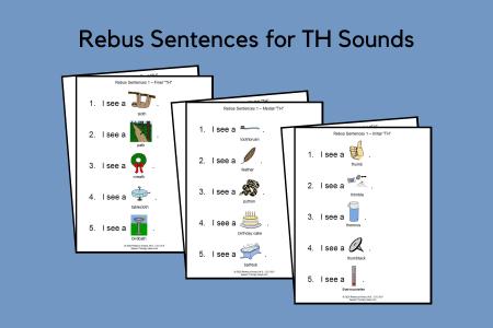 Rebus Sentences for TH Sounds