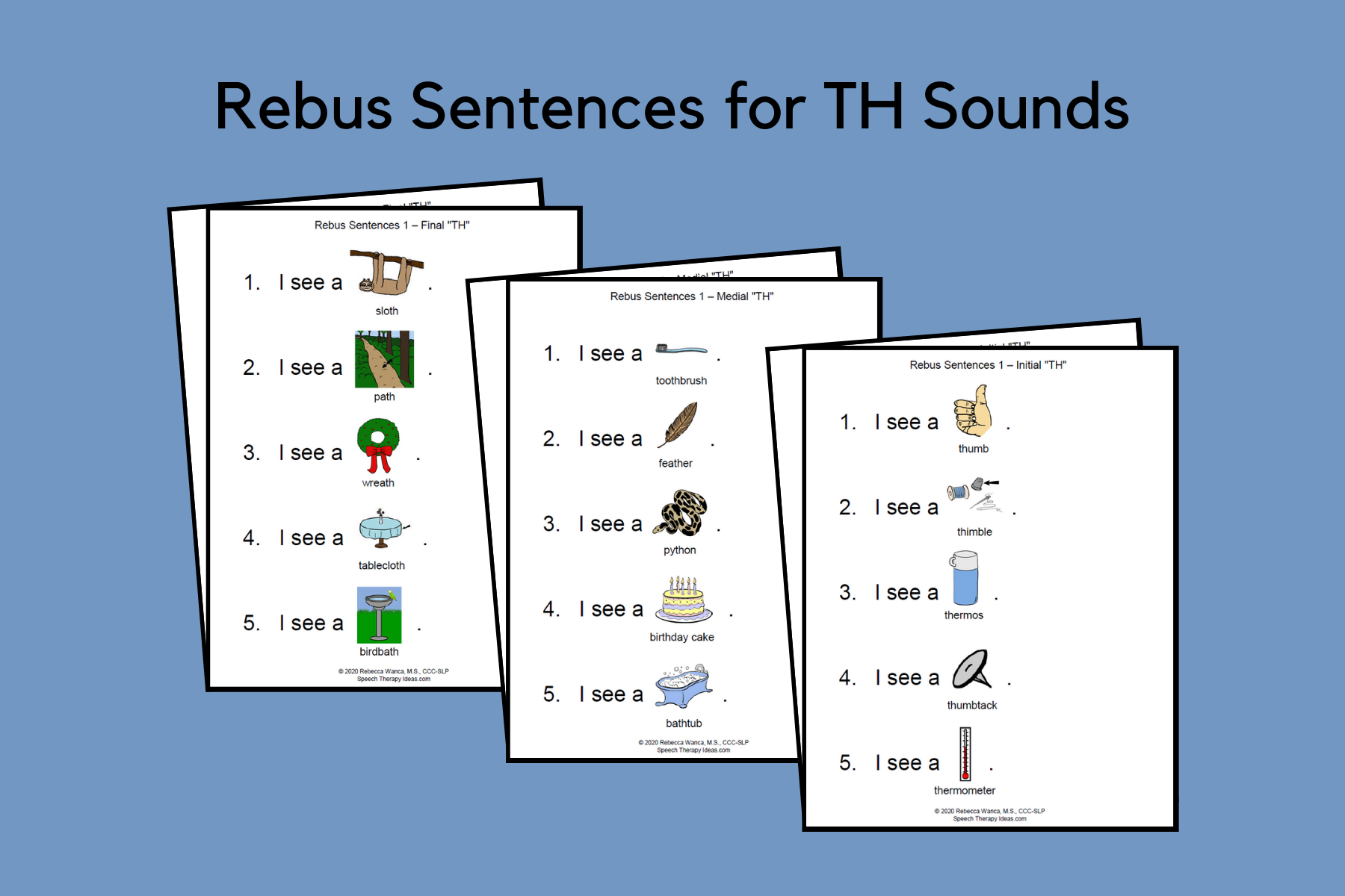 Rebus Sentences For TH Sound