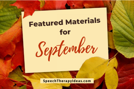 Featured Materials for September
