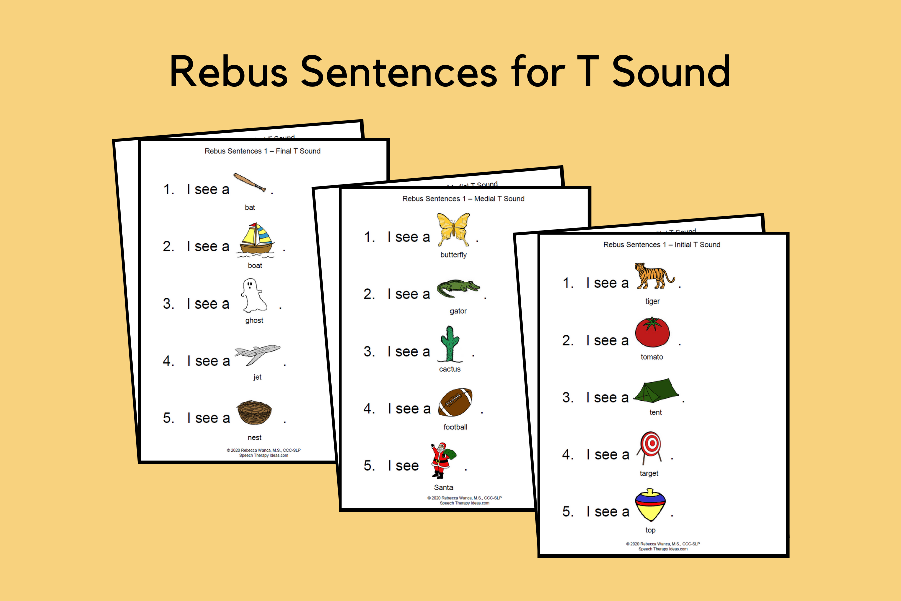 Rebus Sentences for T Sound