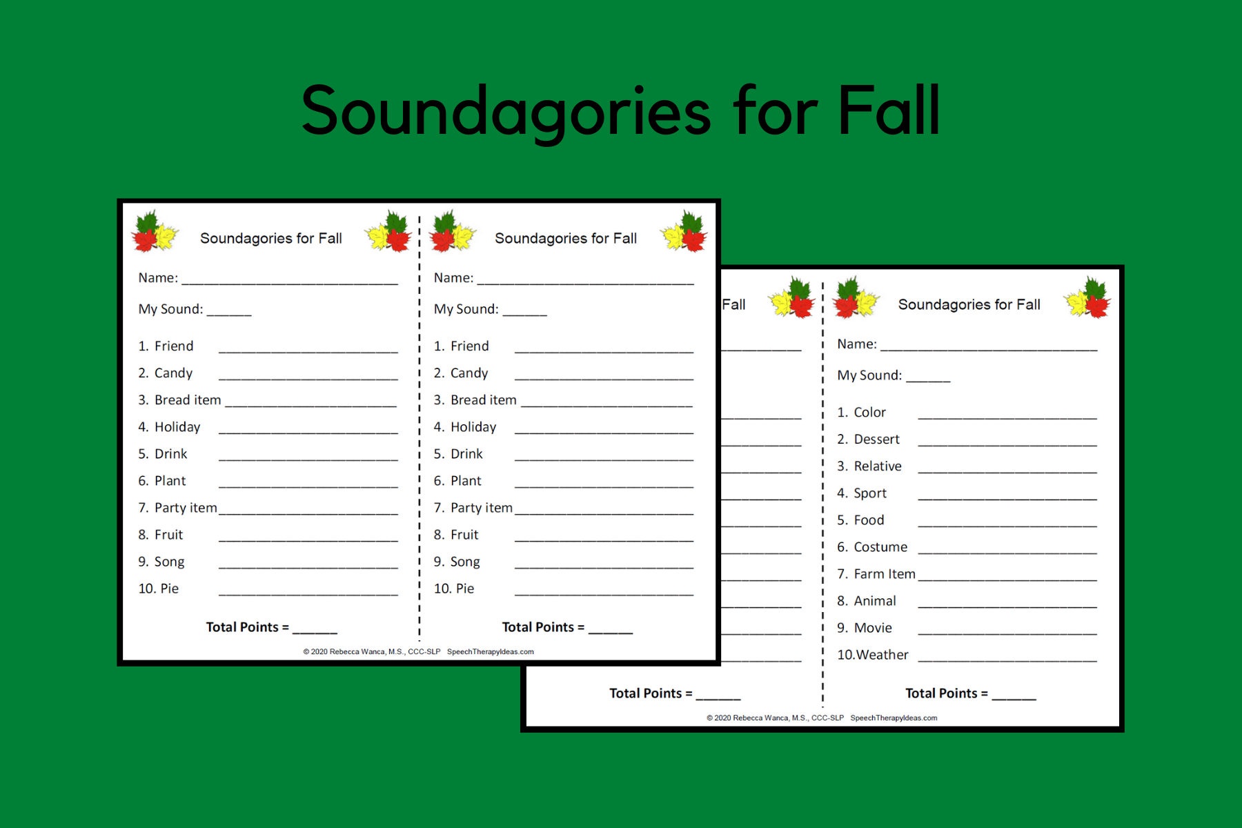 Soundagories for Fall