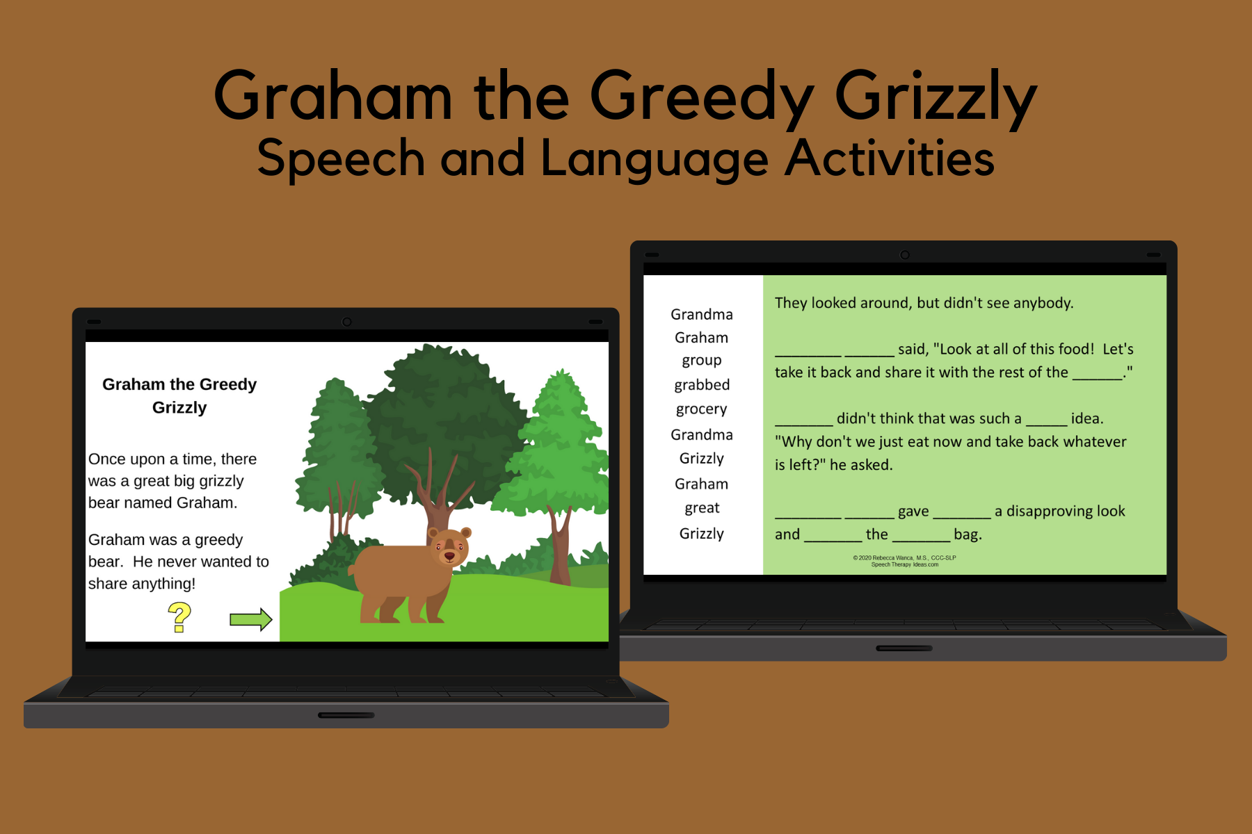 Graham The Greedy Grizzly Story For Speech And Language Therapy