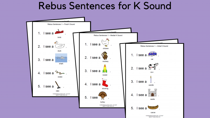 Rebus Sentences For K Sound
