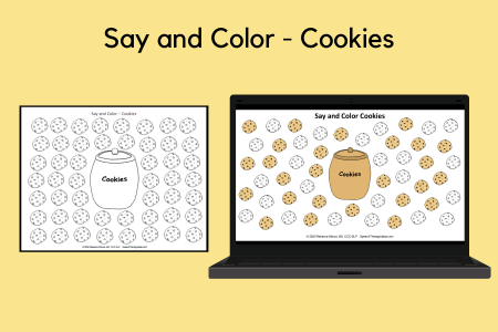 Say and Color - Cookies