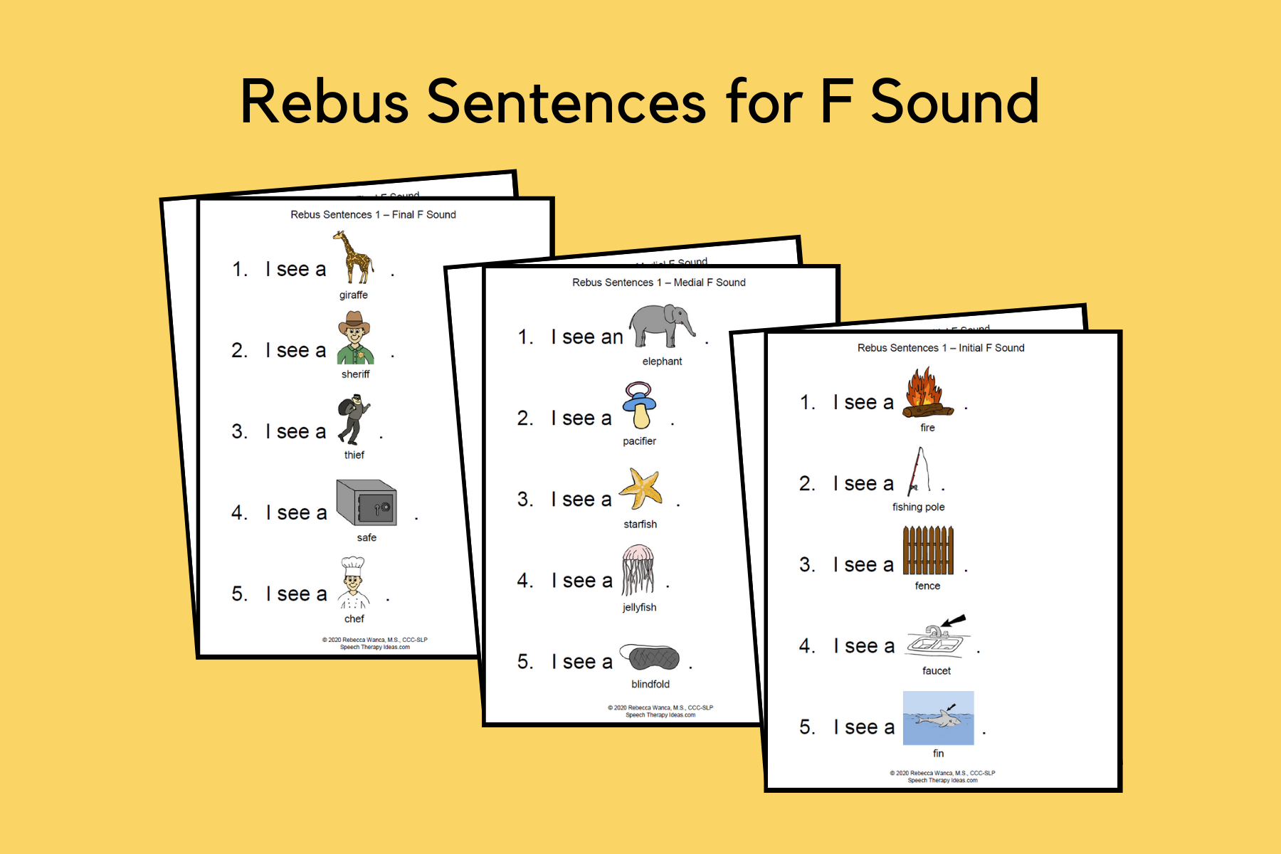 Rebus Sentences For F Sound