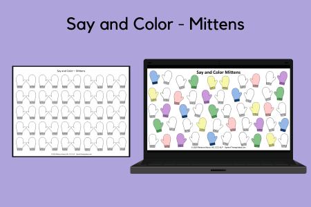 Say and Color - Mittens