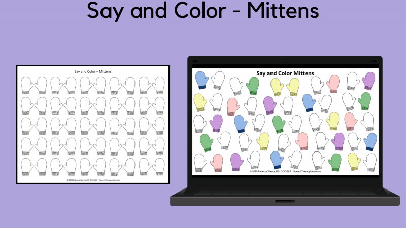 Say And Color – Mittens