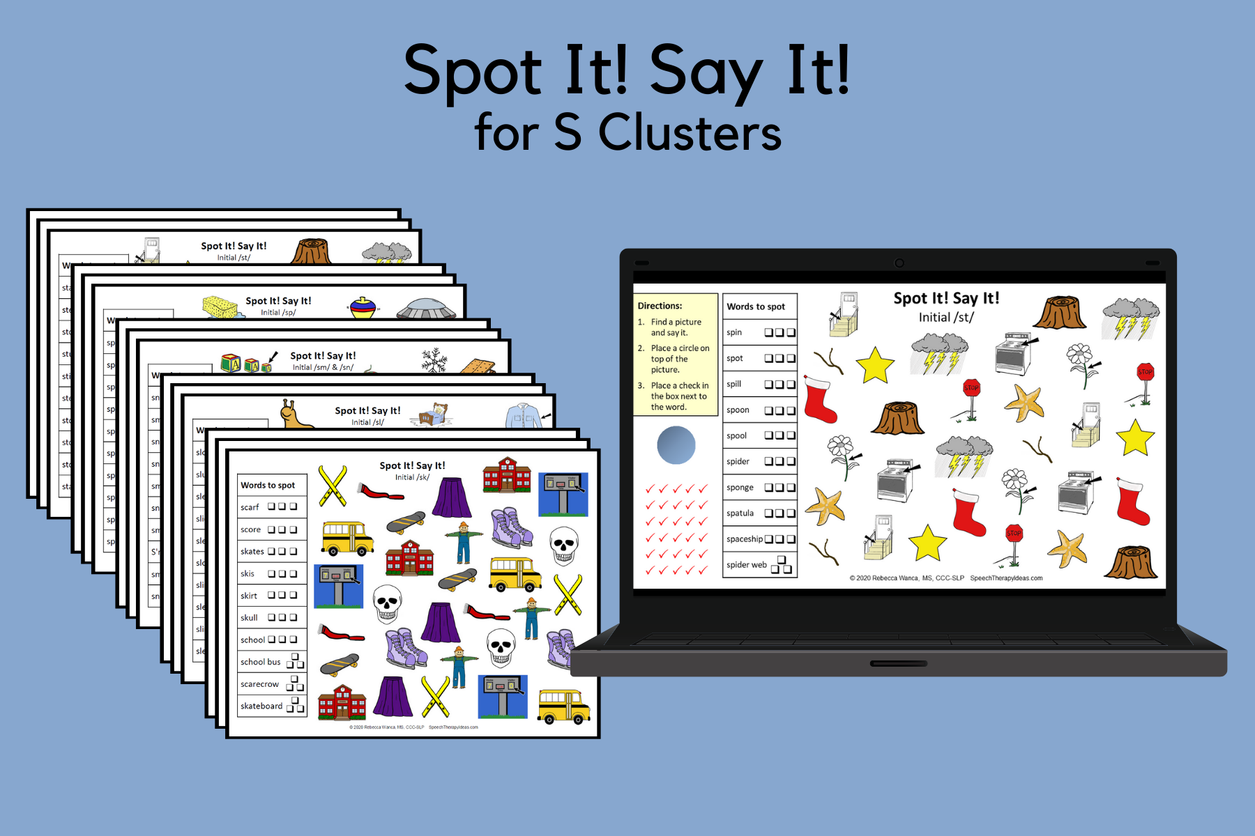 Spot It! Say It! Pages For S Clusters