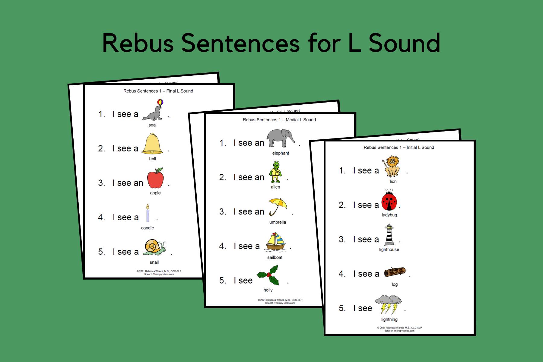 Rebus Sentences For L Sound