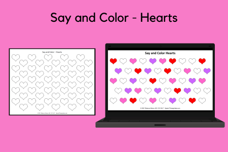 Say and Color - Hearts