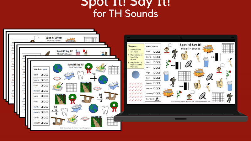 Spot It! Say It! Pages For TH Sounds