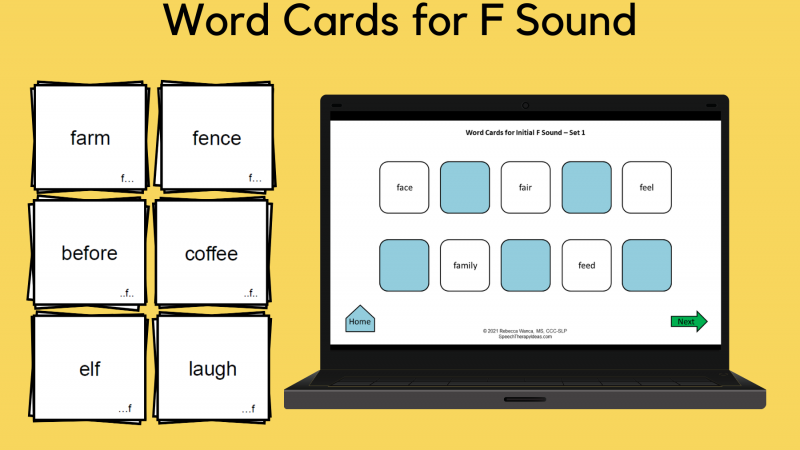 Word Cards For F Sound