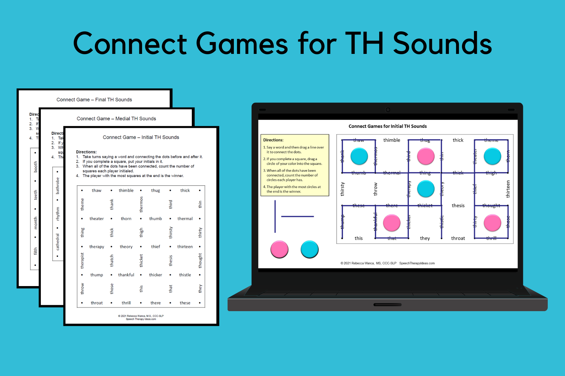 Connect Games For TH Sounds