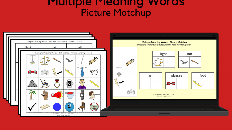 Multiple Meaning Words – Picture Matchup