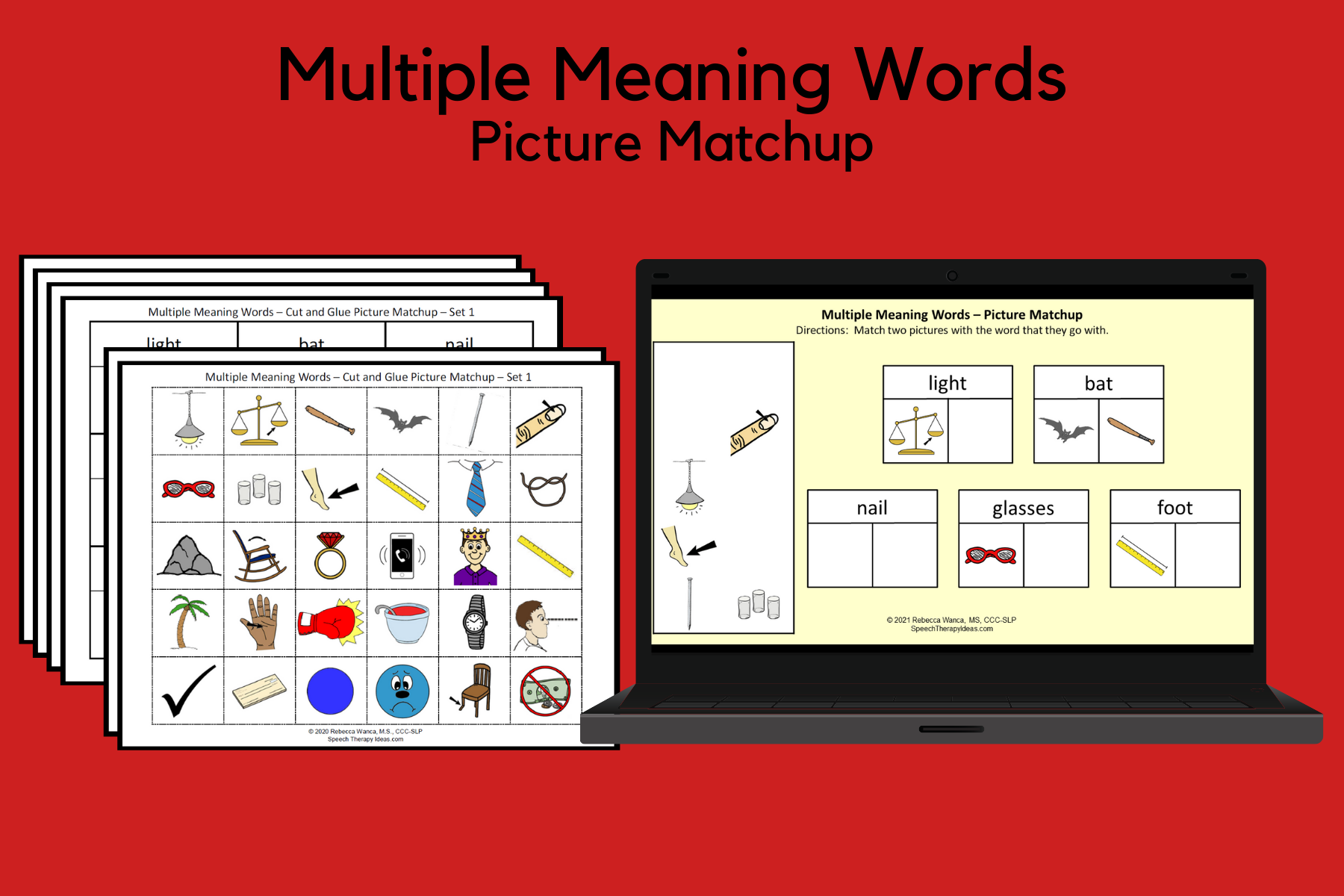 Multiple Meaning Words - Picture Matchup
