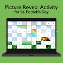 Picture Reveal Activity For St. Patrick's Day